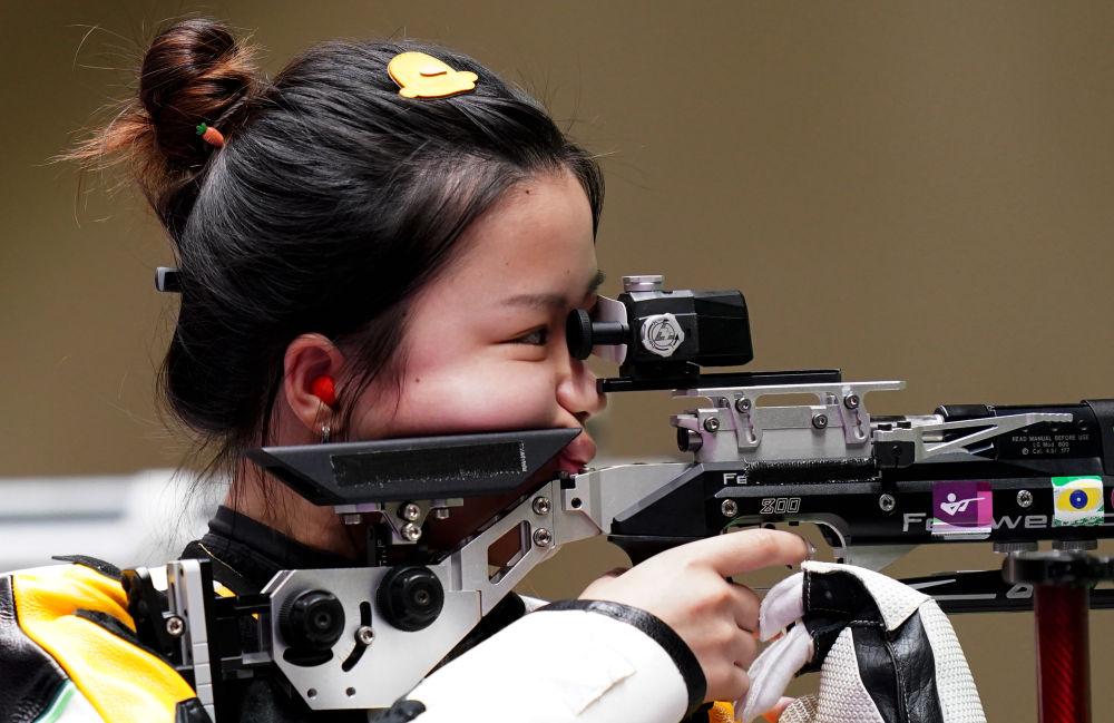 东京奥运会射击女子10米气步枪决赛 杨倩获得金牌